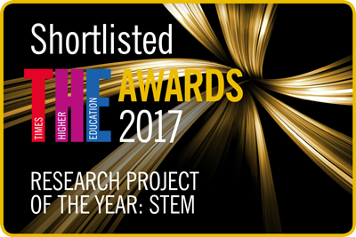Shortlisted for THE Awards 2017 Research Project of the Year: STEM logo